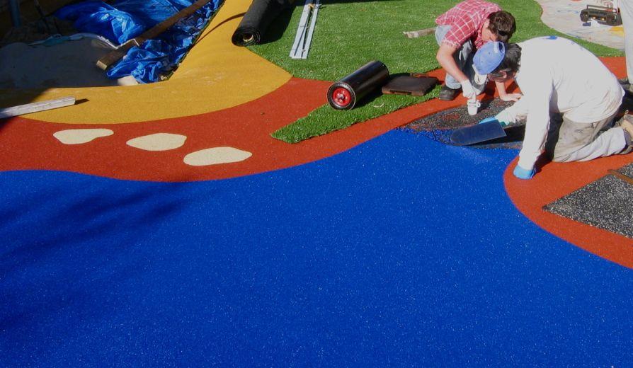 Технология устройства резинового покрытия детских площадок